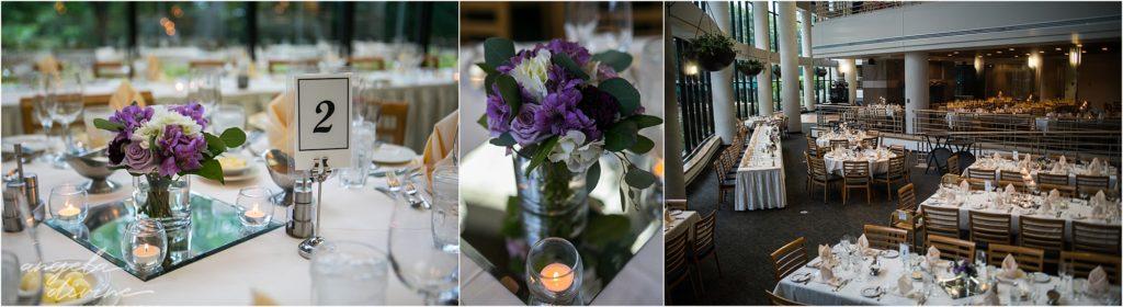 oak ridge conference center wedding reception table details