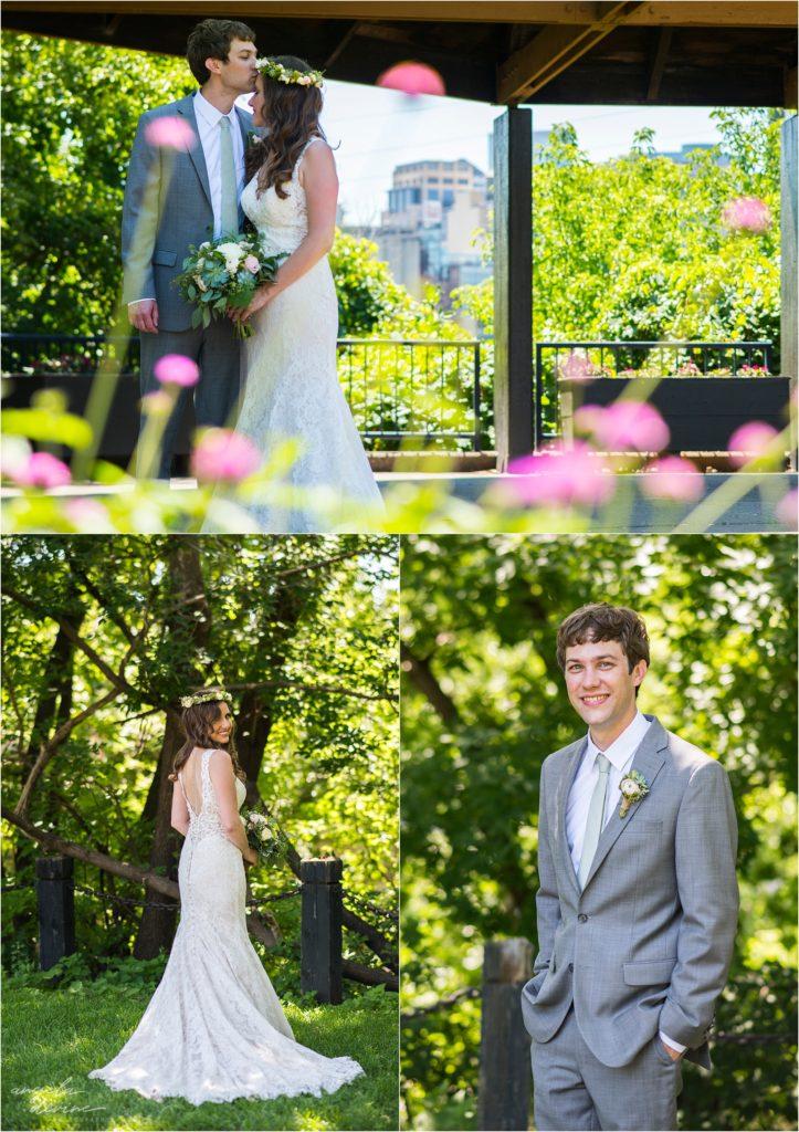 Campus Club Wedding Bride and Groom