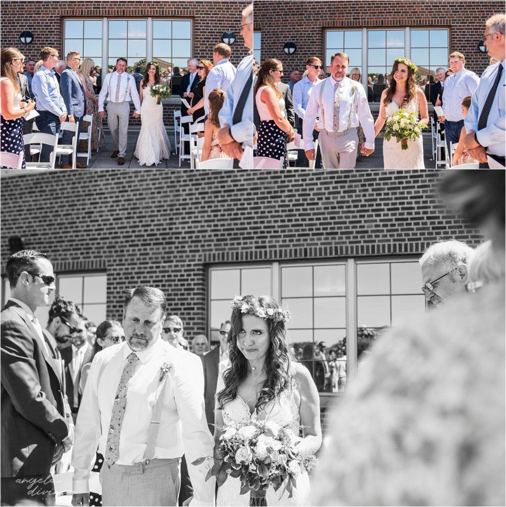 Campus Club Wedding Ceremony Bride