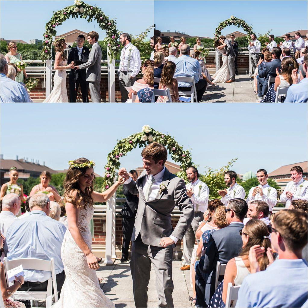 Campus Club Wedding Ceremony Aisle