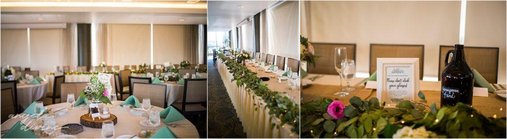 Campus Club Wedding Reception Details