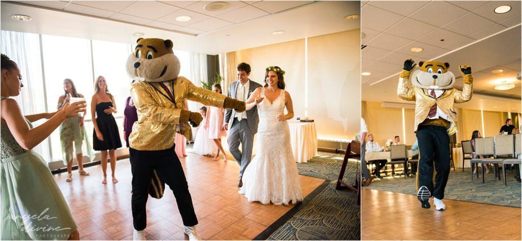 Campus Club Wedding Dance Floor with Goldy