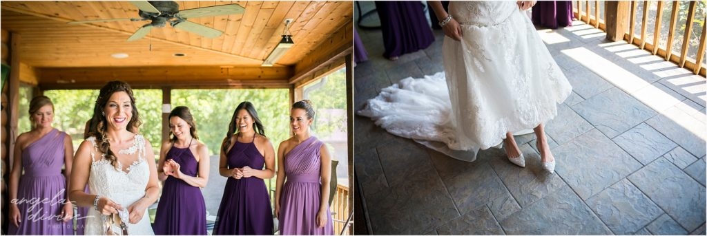 pine peaks event center wedding bridal details