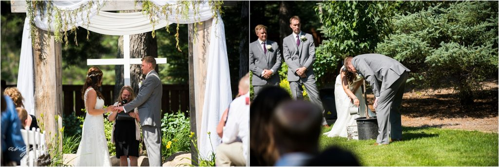 pine peaks event center wedding ceremony