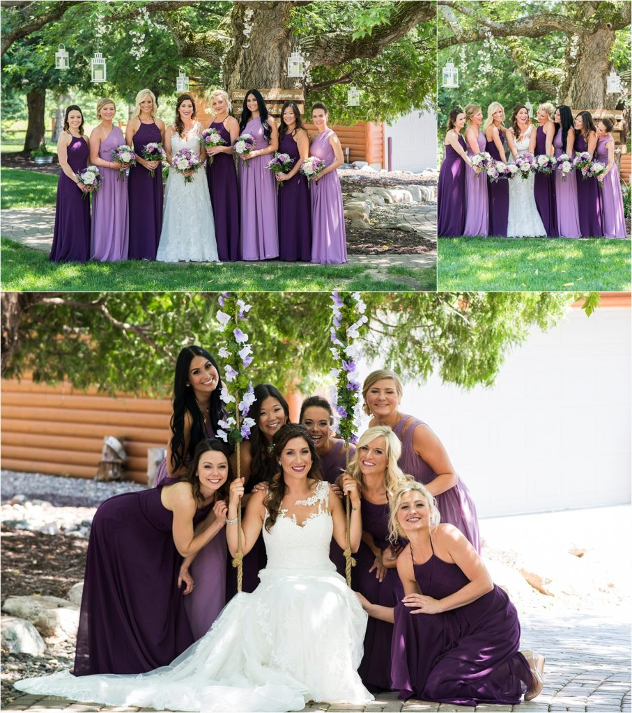pine peaks event center wedding bridesmaids