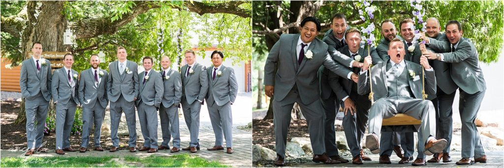 pine peaks event center wedding groomsmen