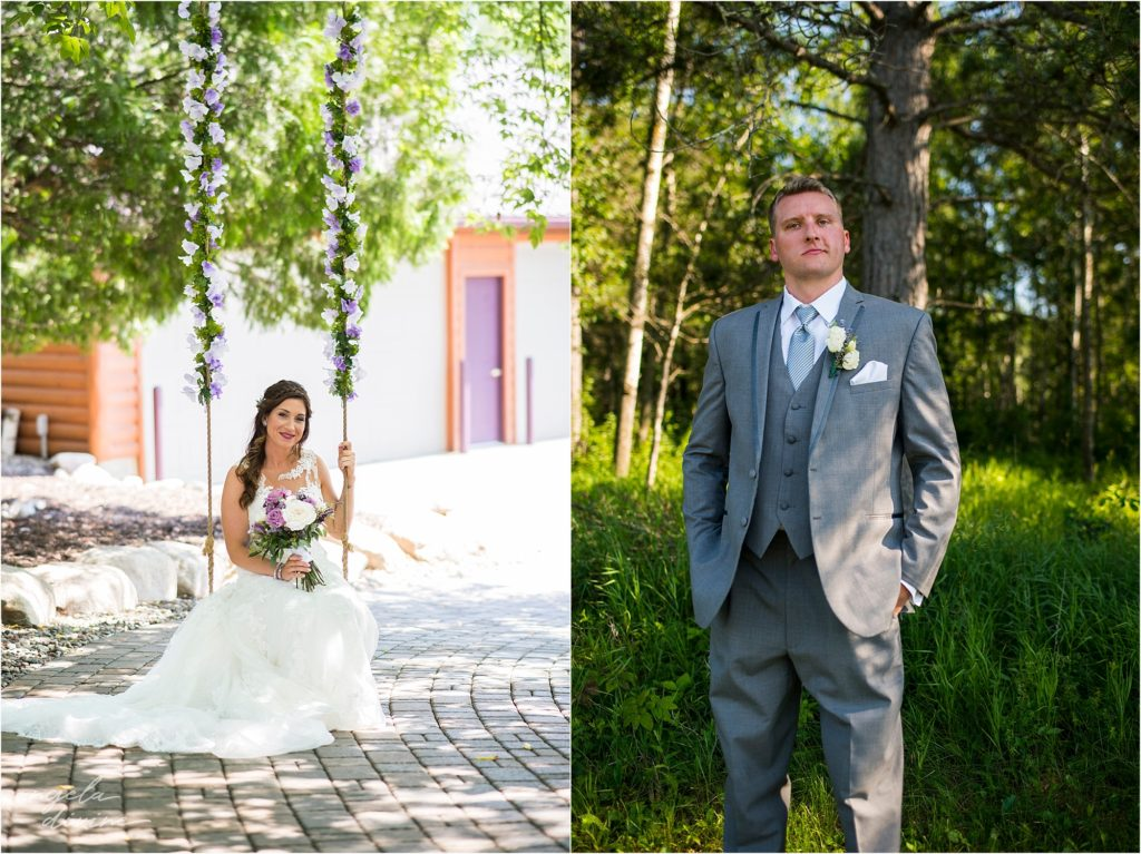 pine peaks event center wedding bride and groom portraits