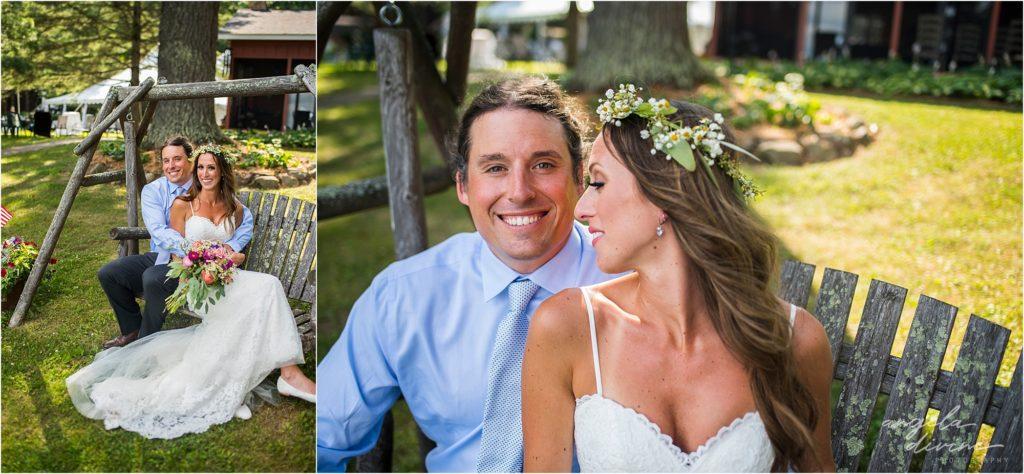 Hayward Wisconsin Backyard Wedding Bridal Portraits