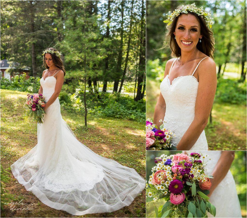 Hayward Wisconsin Backyard Wedding Bride