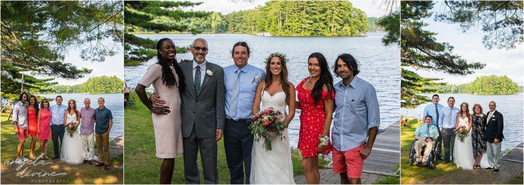 Hayward Wisconsin Backyard wedding family portraits