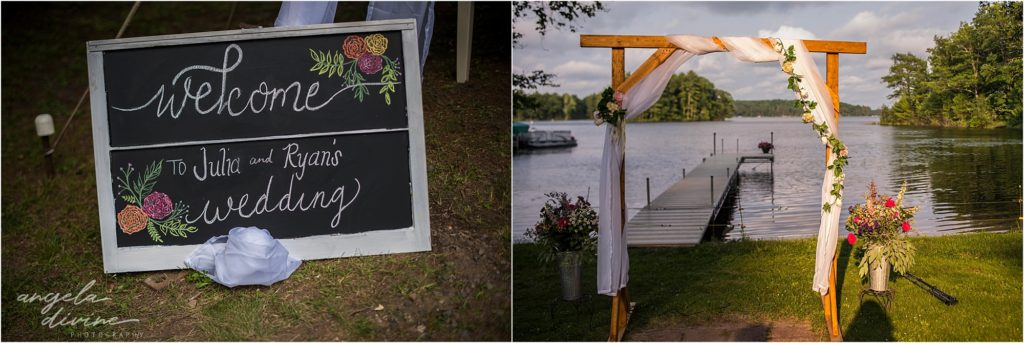 Hayward Wisconsin Backyard Wedding Ceremony Details