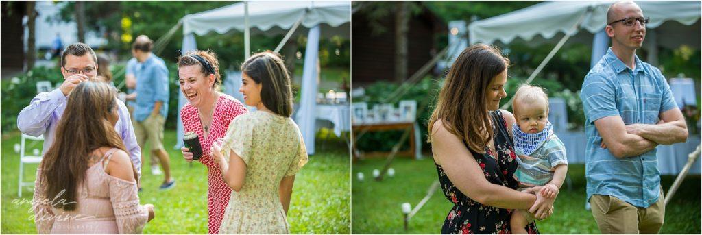 Hayward Wisconsin Backyard wedding guests