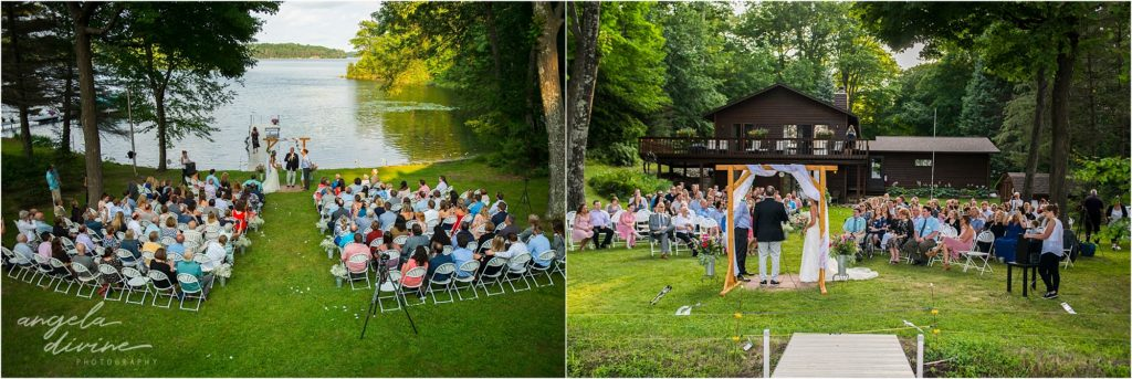 Hayward Wisconsin Backyard wedding Ceremony