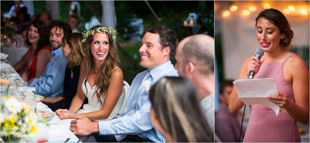 Hayward Wisconsin Backyard wedding Ceremony Toasts