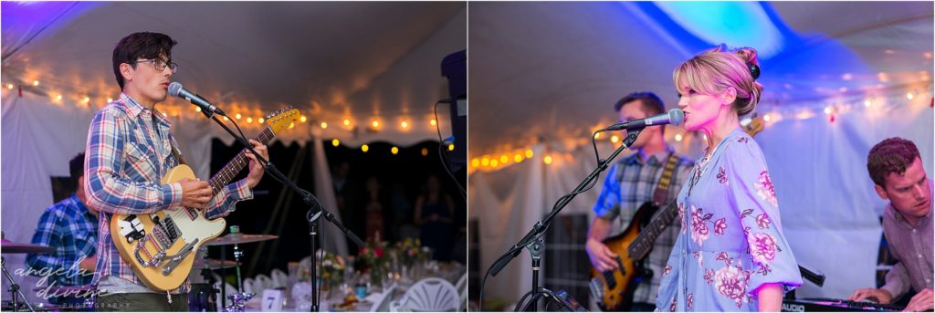 Hayward Wisconsin Backyard wedding Live Band