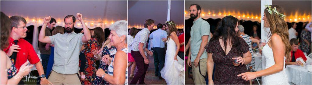 Hayward Wisconsin Backyard wedding dance party