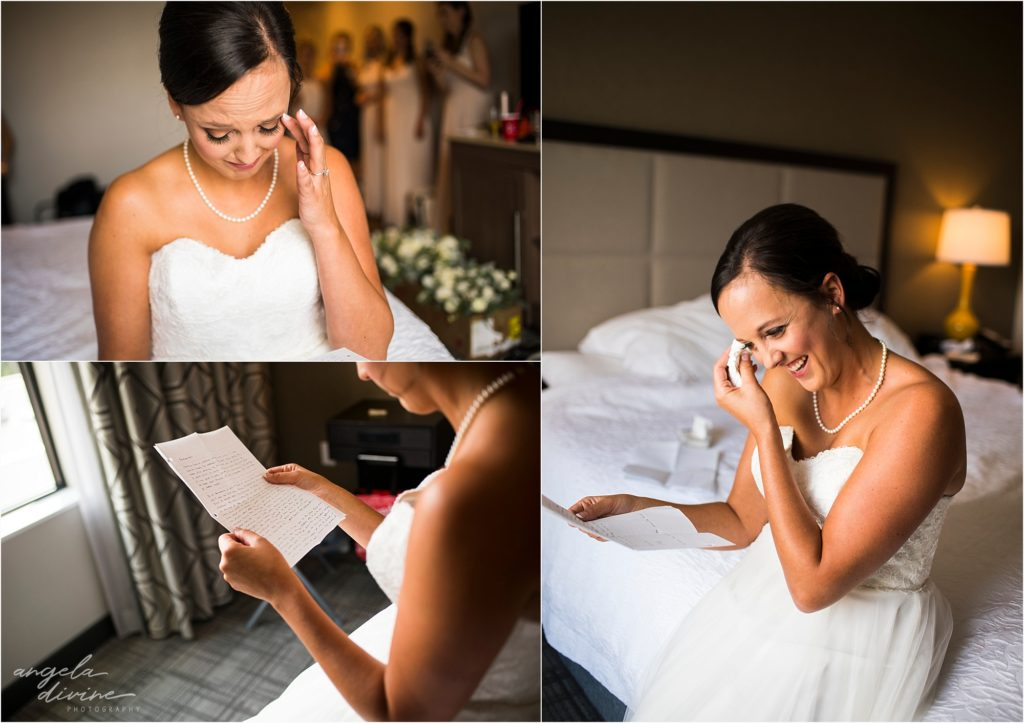 Profile Event Center wedding note reading