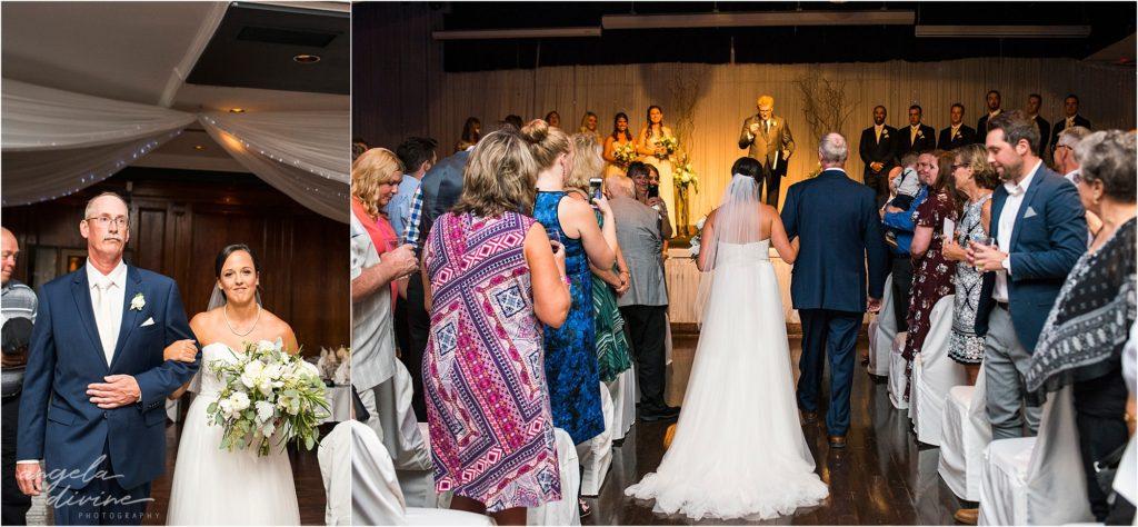 Profile Event Center wedding ceremony walk