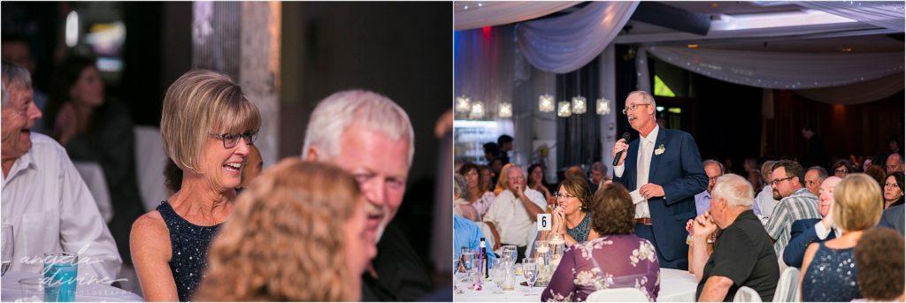 Profile Event Center wedding reception toasts