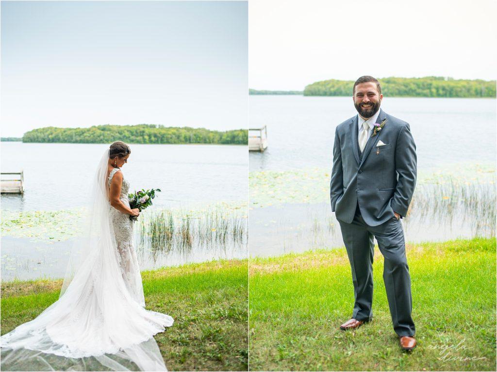 Barn at Five Lakes Wedding bride and groom portraits
