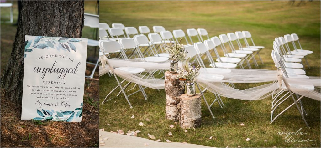 Barn at Five Lakes Wedding ceremony space