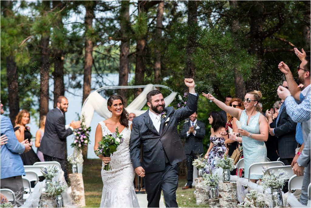 Barn at Five Lakes Wedding ceremony processional