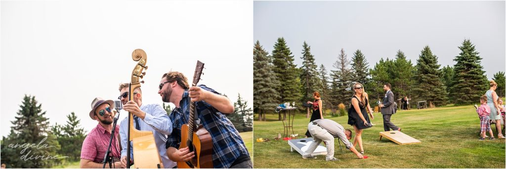 Barn at Five Lakes Wedding ceremony social hour dancing