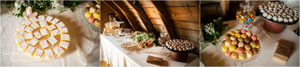Barn at Five Lakes Wedding dessert table