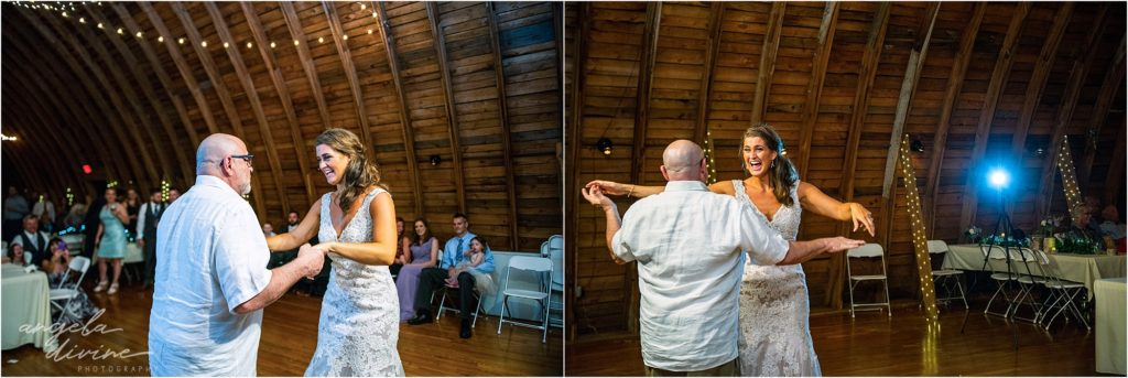 Barn at Five Lakes Wedding father daughter dance