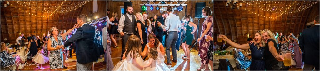 Barn at Five Lakes Wedding dance party