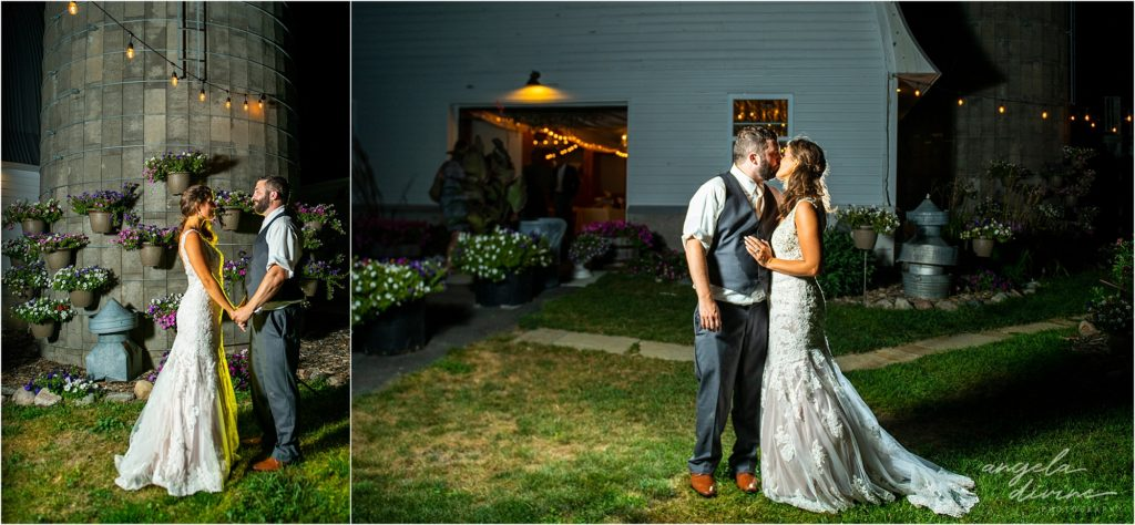 Barn at Five Lakes Wedding night photography