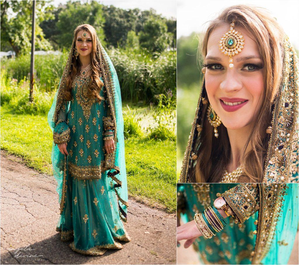 Cafe Lurcat Wedding Reception Pakistani Dress