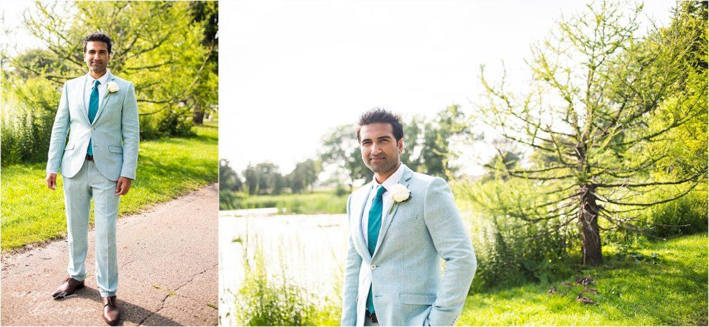 Cafe Lurcat Wedding Reception Pakistani Groom Suit