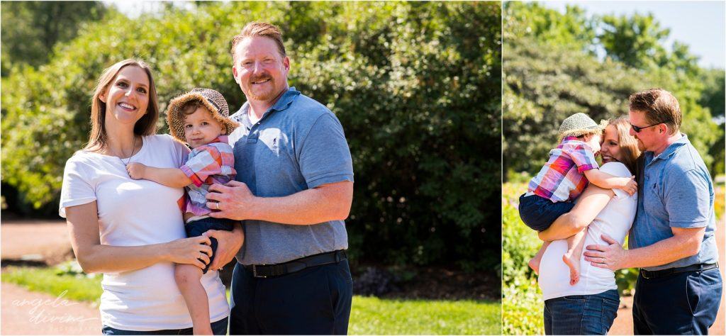 Lyndale Rose Garden Family Milestone Session two Years