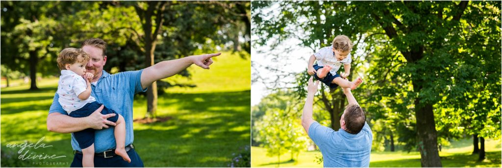 Lyndale Rose Garden Family Milestone Session Father and Son