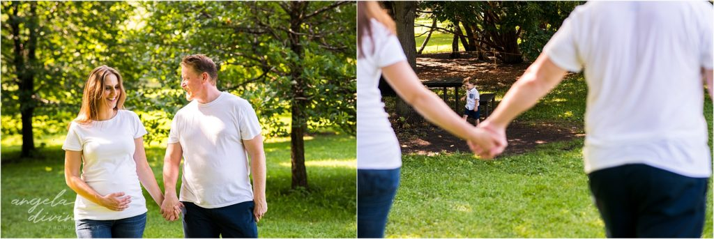 Lyndale Rose Garden Family Session Maternity Couple Photos