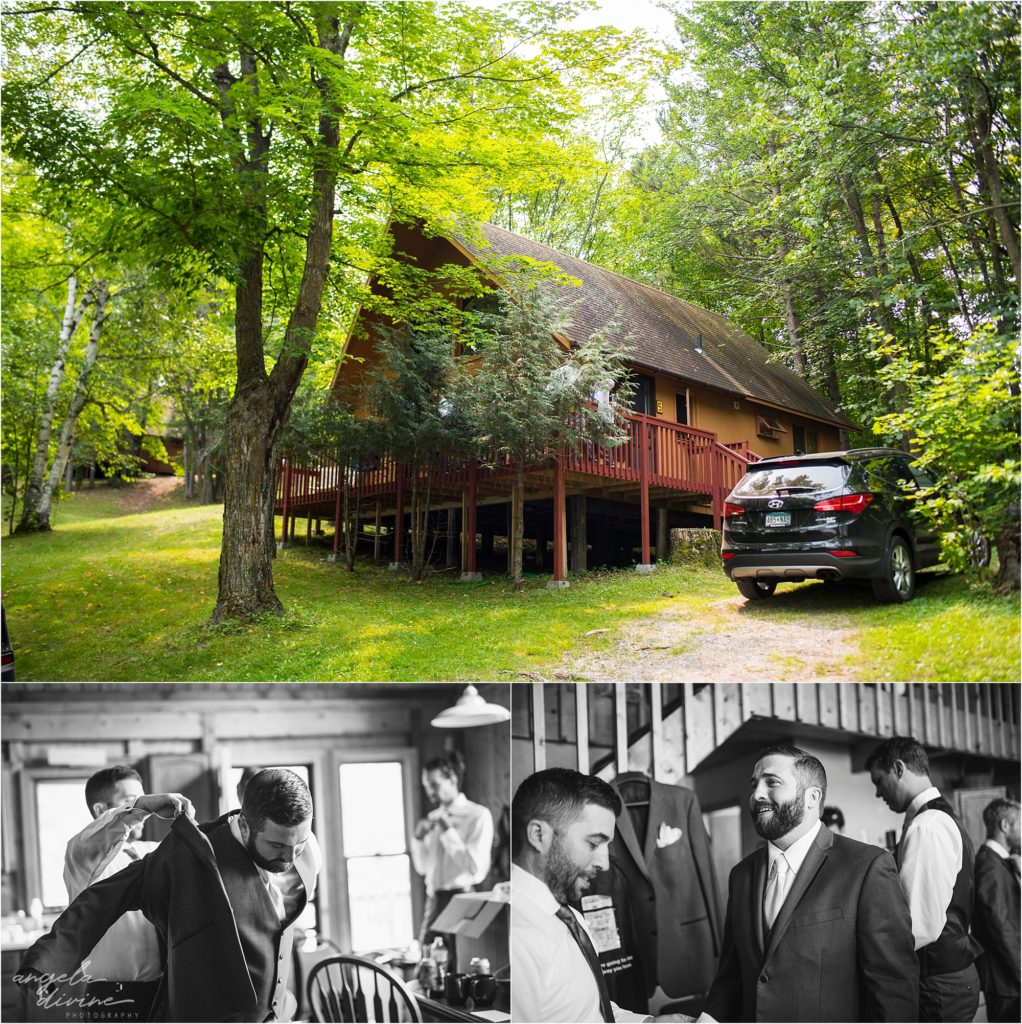 Barn at Five Lakes Wedding groom's cabin