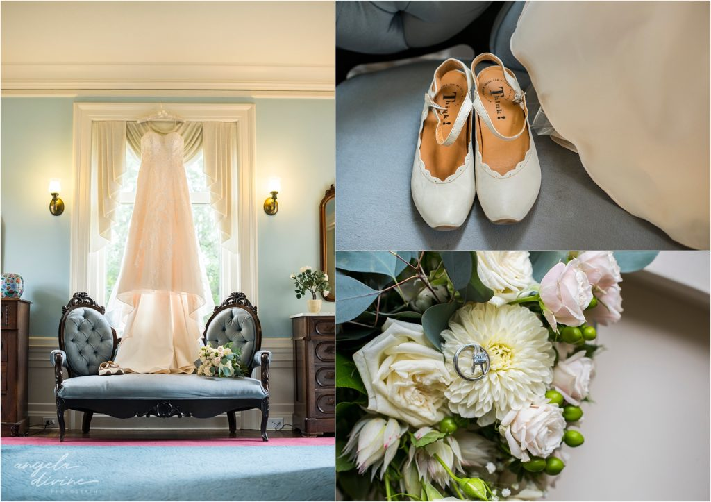 Gale Mansion Wedding bridal suite