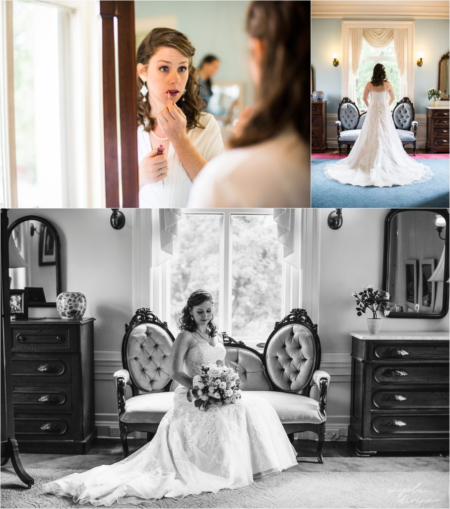Gale Mansion Wedding Bride portraits