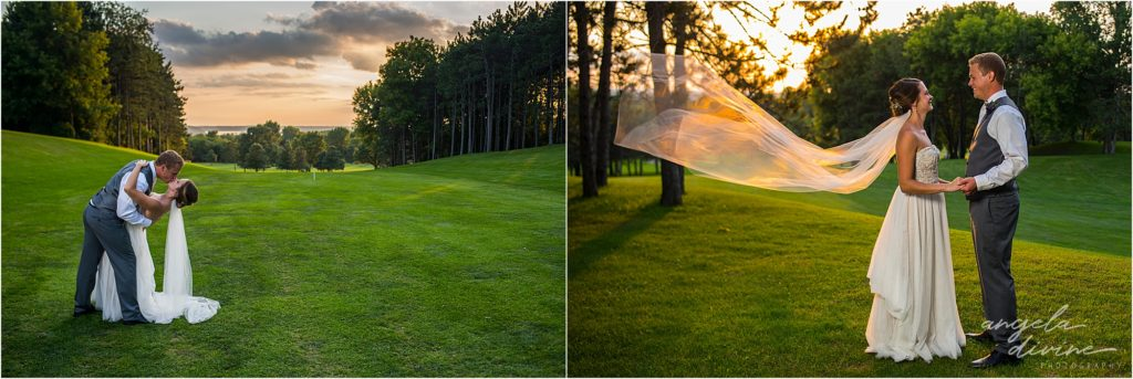 River Oaks Golf Course Wedding Sunset