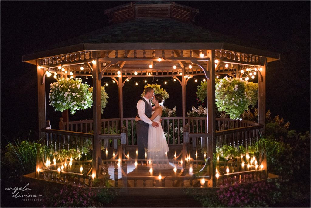 River Oaks Golf Course Wedding Gazebo at Night