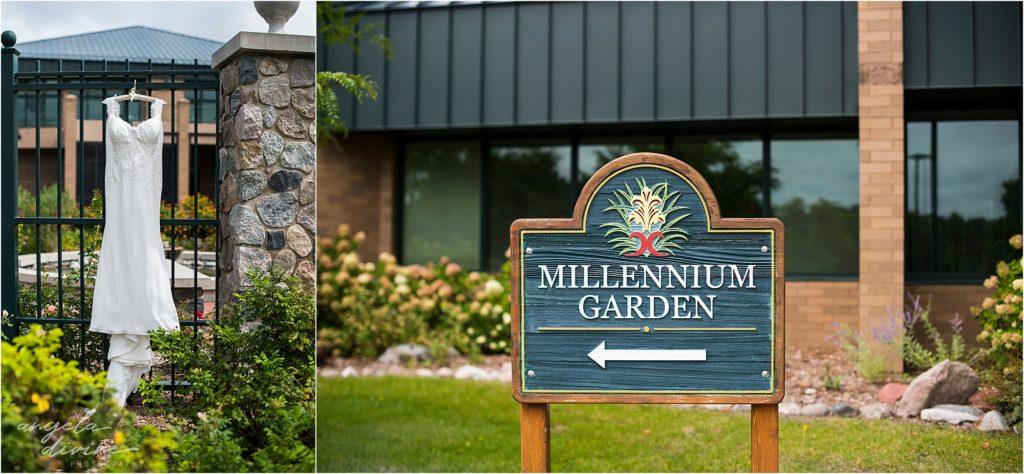 Millennium Garden Wedding Sign