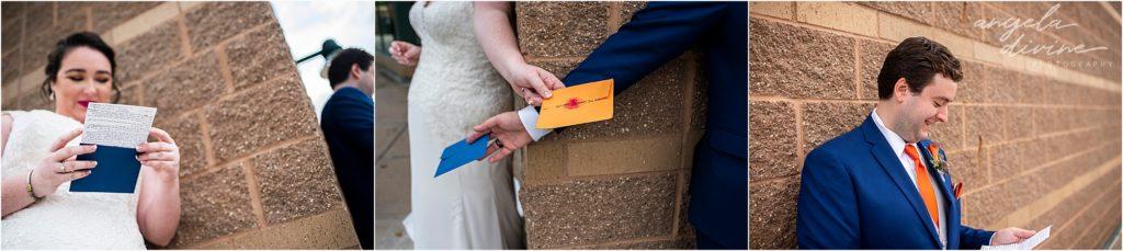 Millennium Garden Wedding letter reading