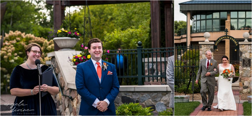 Millennium Garden Wedding Ceremony First Look
