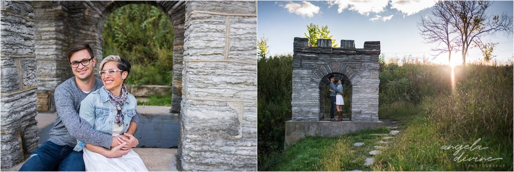 Coldwater Spring Minneapolis Engagement Session Ruins