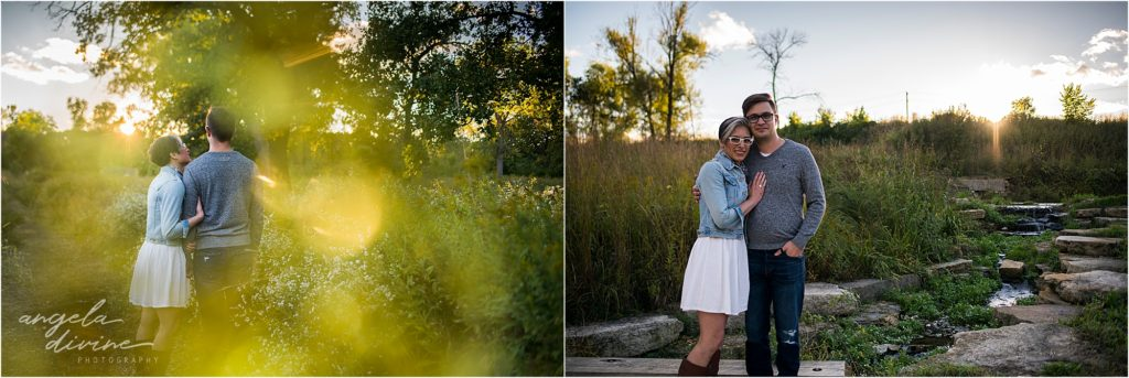 Coldwater Spring Minneapolis Engagement Session Before Sunset