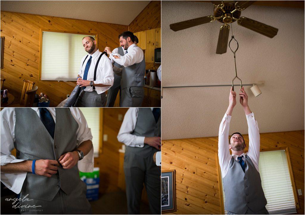 Grand View Lodge Wedding Groom's Cabin
