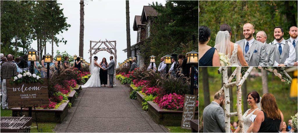 Grand View Lodge Wedding Outdoor Ceremony