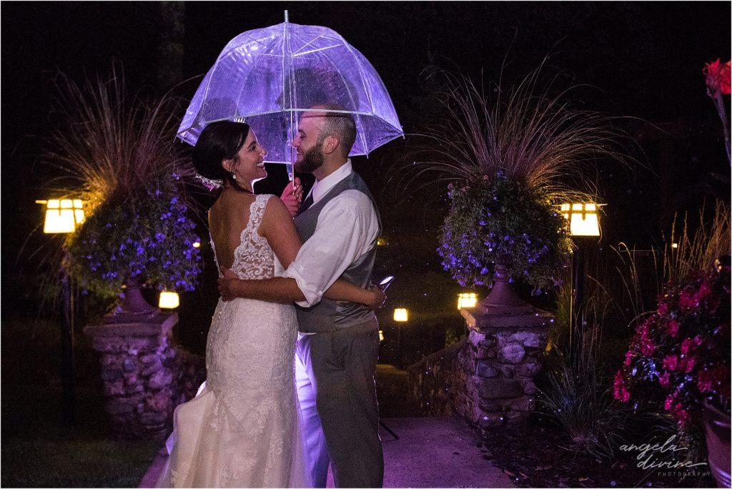 Grand View Lodge Wedding Rain