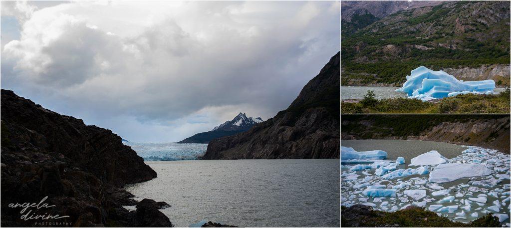 torres del paine w trek glacier grey ice bergs